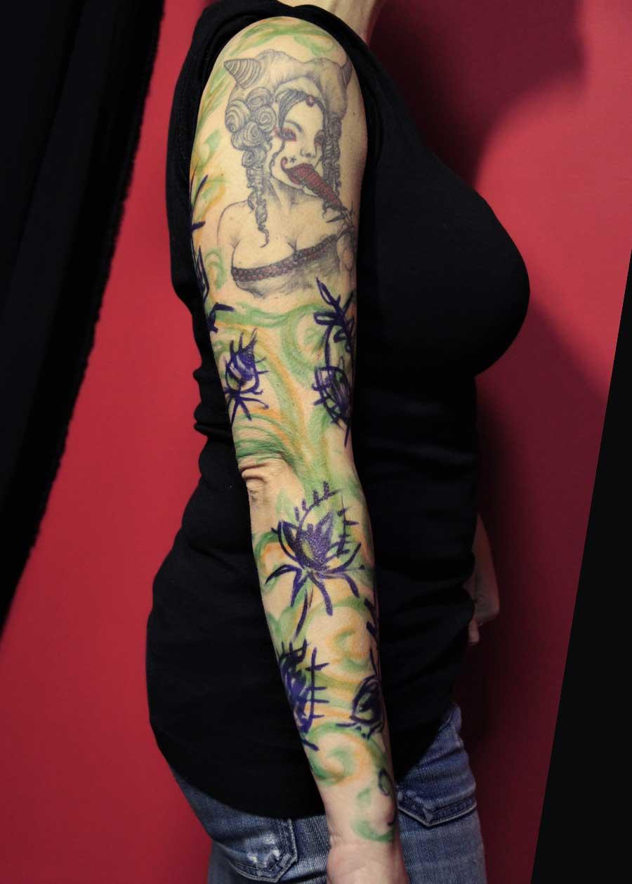 tattoo ornemental chardons