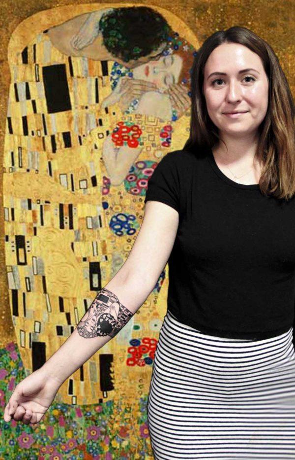 tatouage le baiser klimt bracelet tattoo